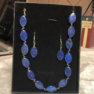 Jewelry - Blue necklace and earrings. Never been worn.